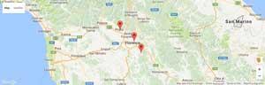 mappa studi dentistici in toscana